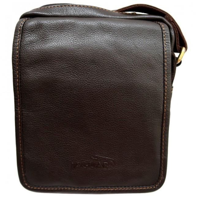 Jaguar bolsa de homem de Pele com tiracolo