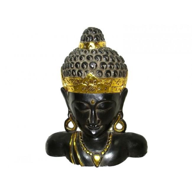 Busto Buda Indiano de Madeira