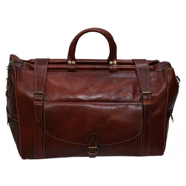 saco de viagem de couro