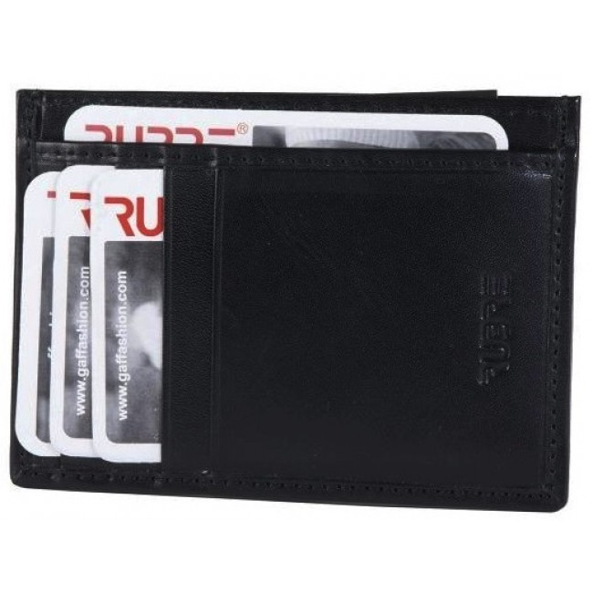 Carteira de pele Preto com porta cartões
