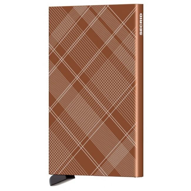 Secrid Cardprotector Laser Tartan Rust Ref - CLa-Tartan Rust