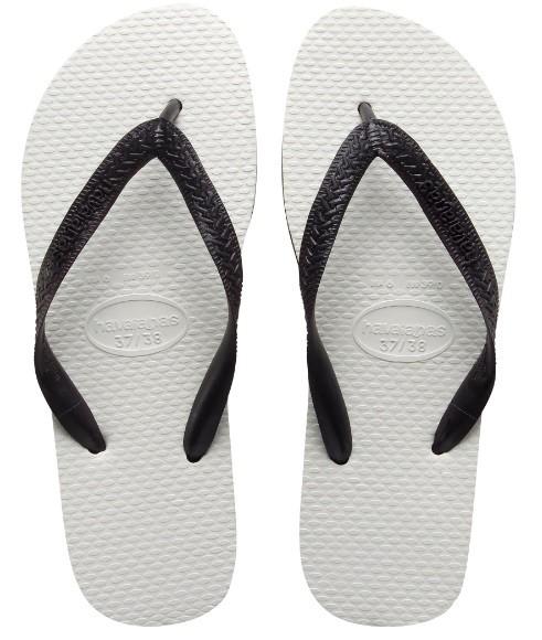 Sandálias Havaianas Tradicional Preto e Branco | Zattini