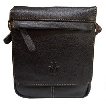 Bolsa de couro castanha