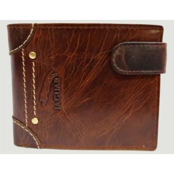 Carteira Homem couro porta moedas cartões e notas Castanho