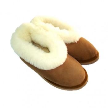 Pantufas em pele de ovelha