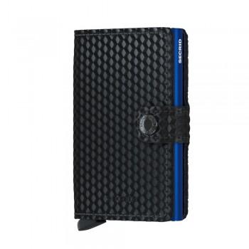 SECRID CARTEIRA MINIWALLET CUBIC BLACK-BLUE