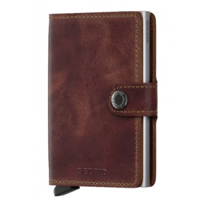 CARTEIRA SECRID - MINIWALLET VINTAGE BROWN