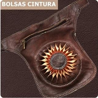 Loja das Peles Bolsas cintura de couro e diversos materiais